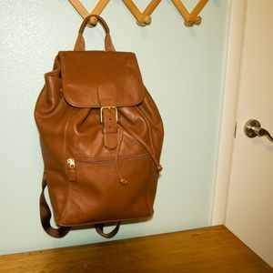COACH Brown Leather XL Backpack University